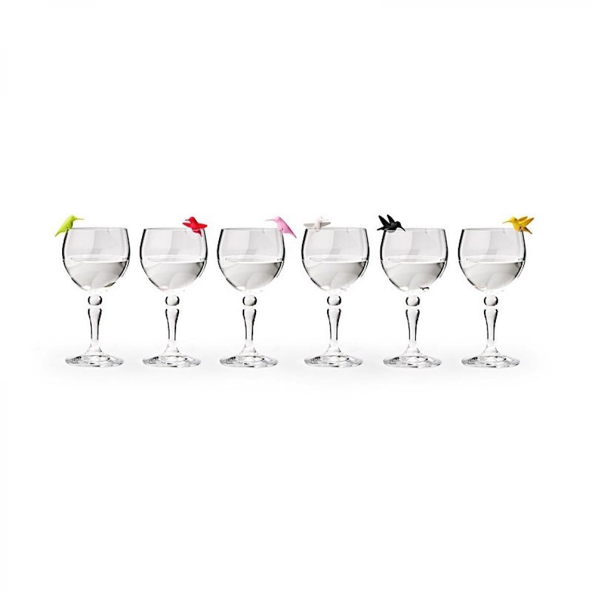 Qualy Set de 6 marques verres Colibri