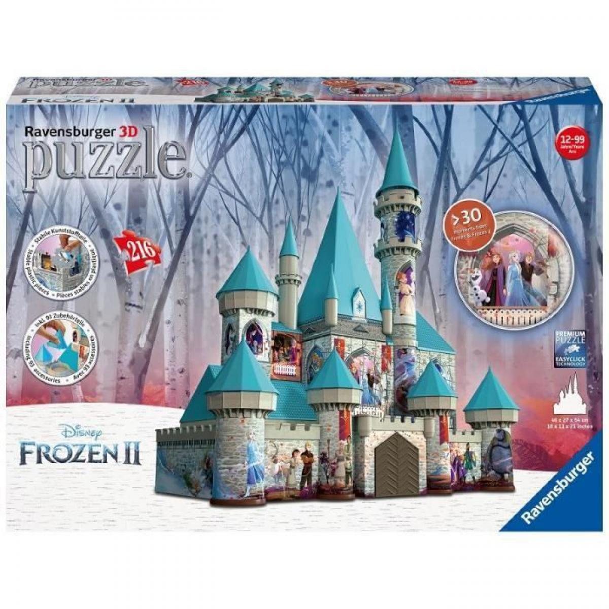 Ravensburger RAVENSBURGER - La Reine des Neiges 2 Puzzle 3D Chateau de la Reine des Neiges 216 pieces