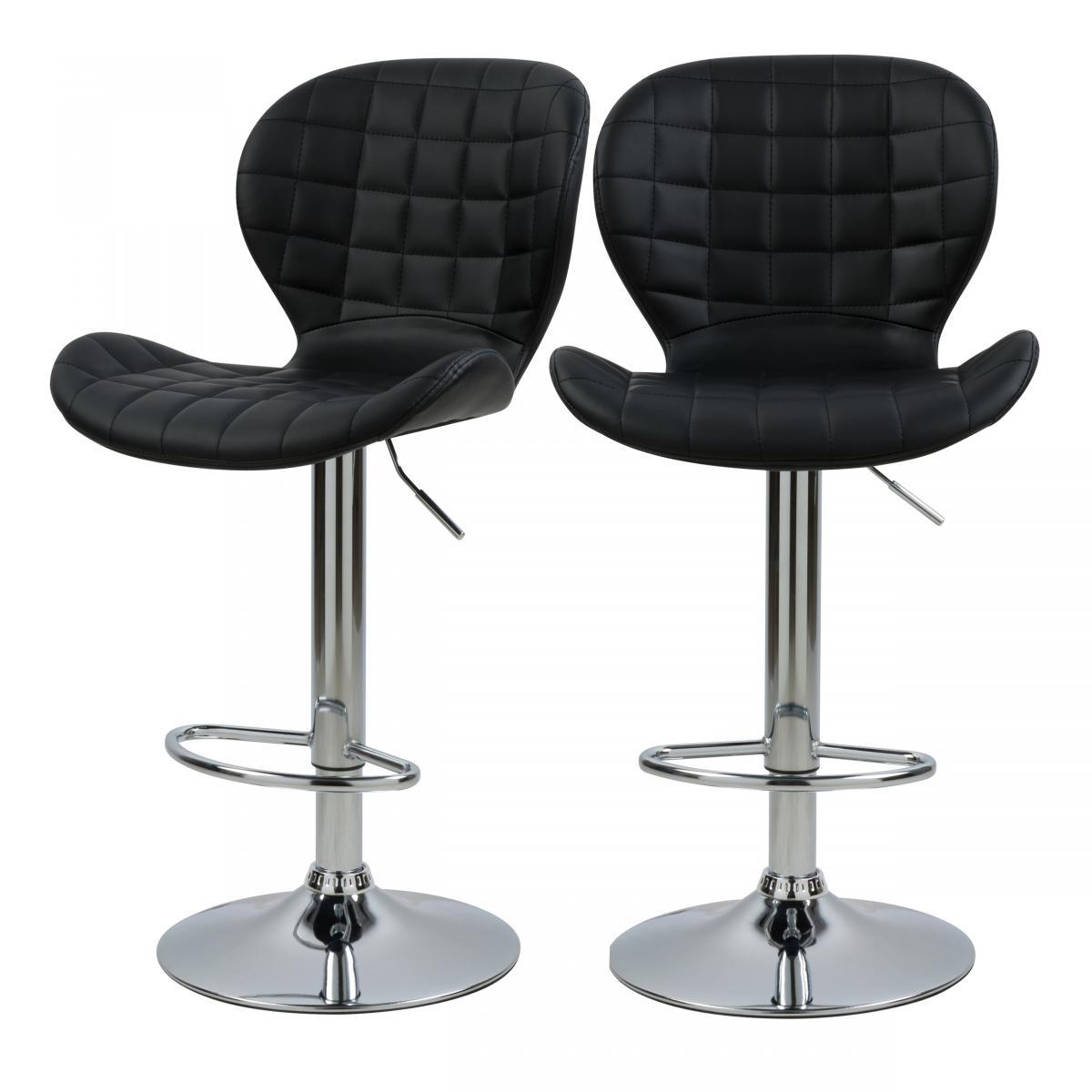 Rendez Vous Deco Chaise de bar Mazzia 53/74 cm (lot de 2)