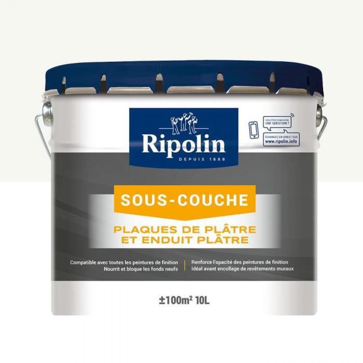 Ripolin RIPOLIN Sous-Couche Plaque de Platre Ripolin - Blanc Mat, 10L