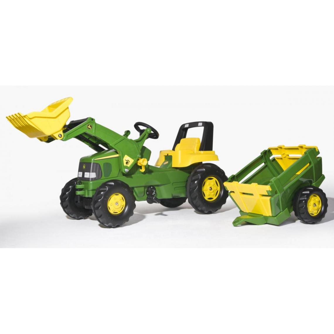 Rolly Toys Rolly Toys Tracteur a Pedale rollyJunior John Deere + remorque