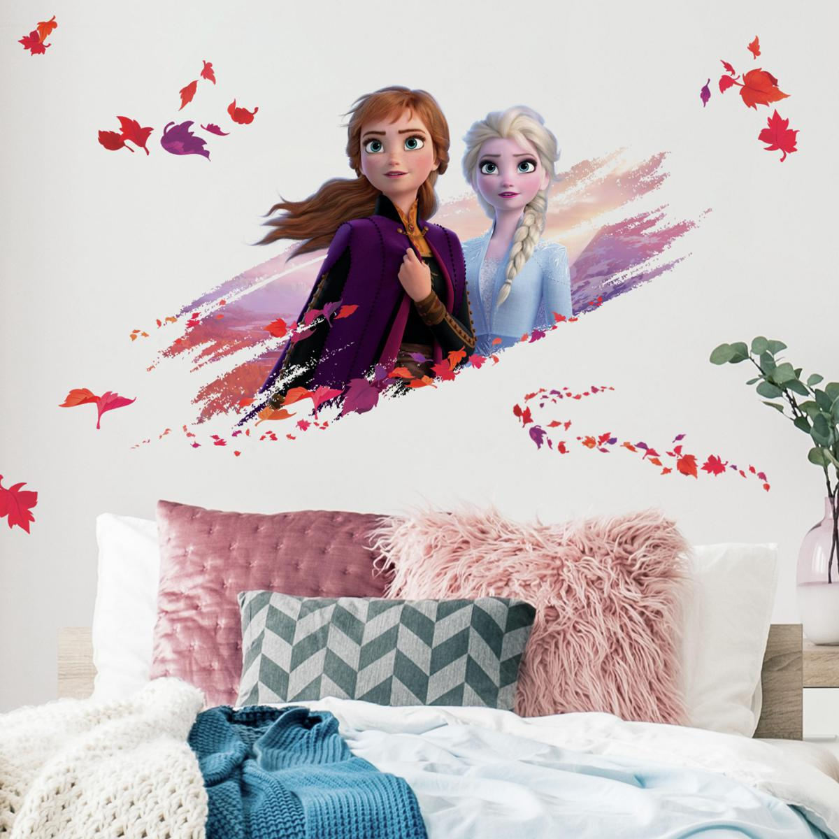 Roommates Stickers Elsa & Anna La Reine des Neiges 2 Disney