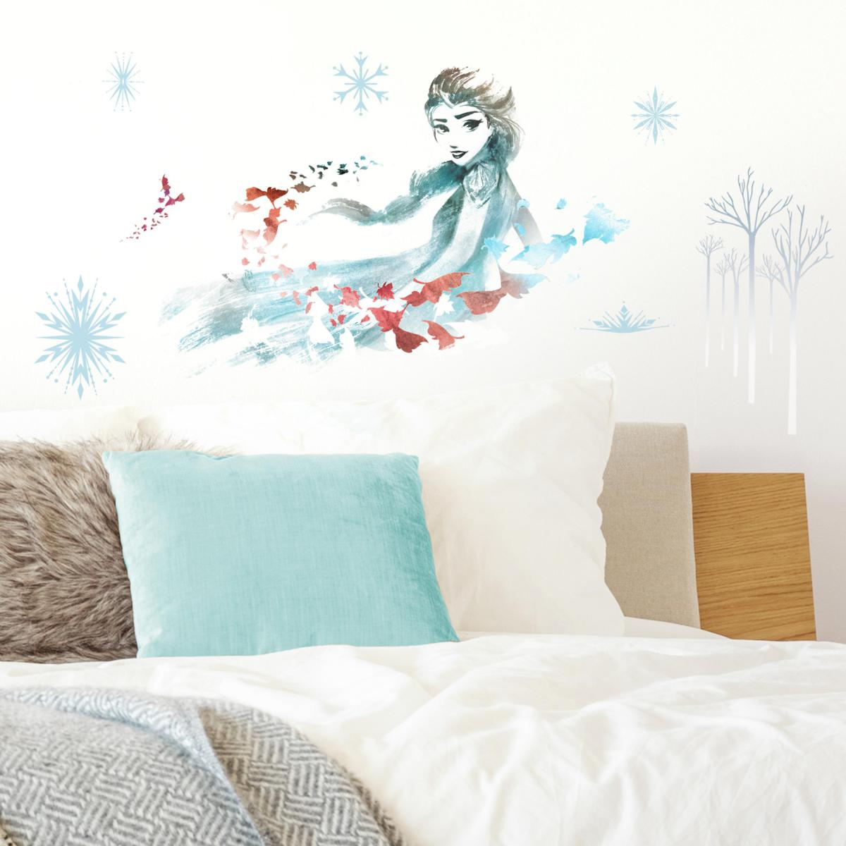 Roommates Stickers Elsa La Reine des Neiges 2 Disney Aquarelles et dessins