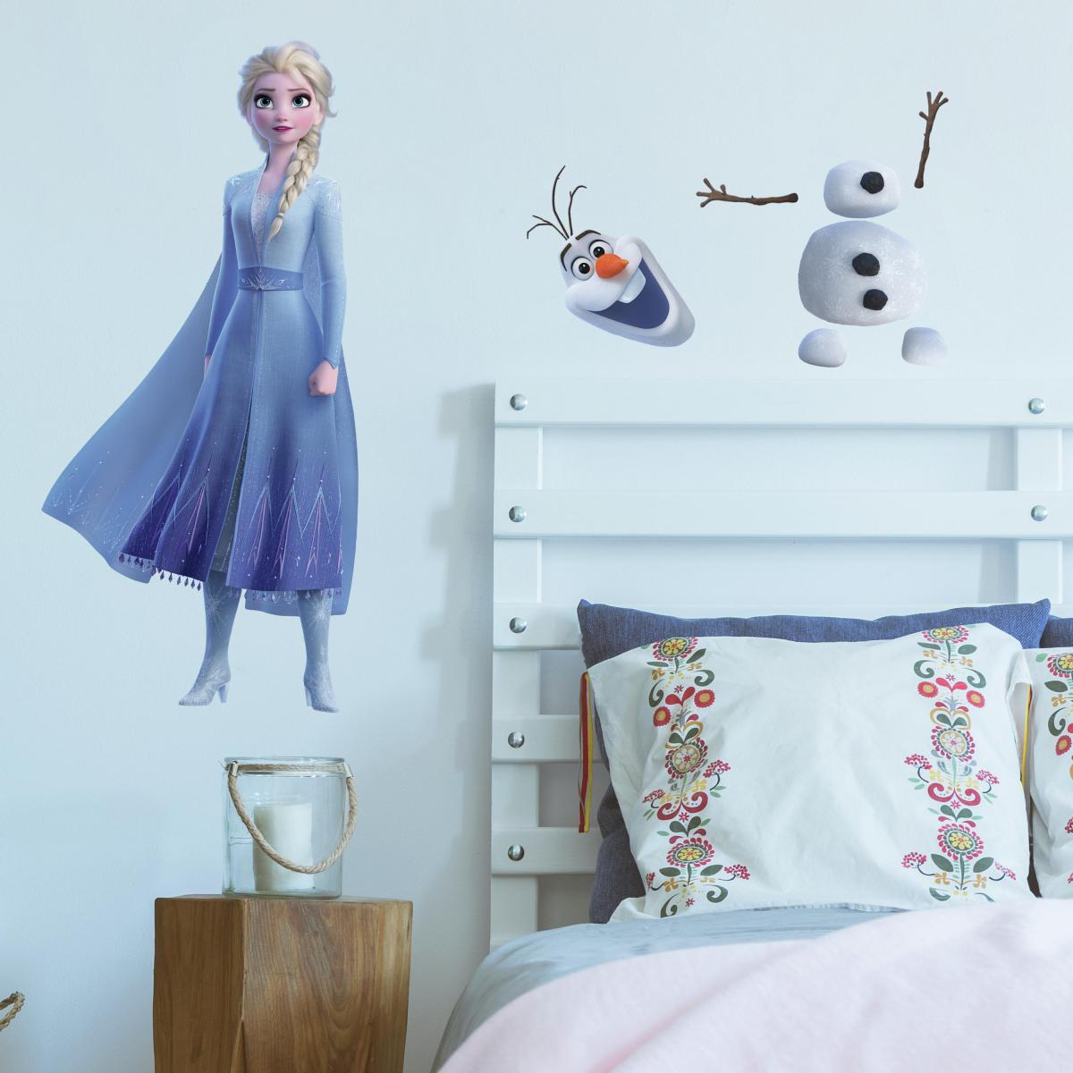 Roommates Stickers géant Elsa & Olaf La Reine des Neiges 2 Disney