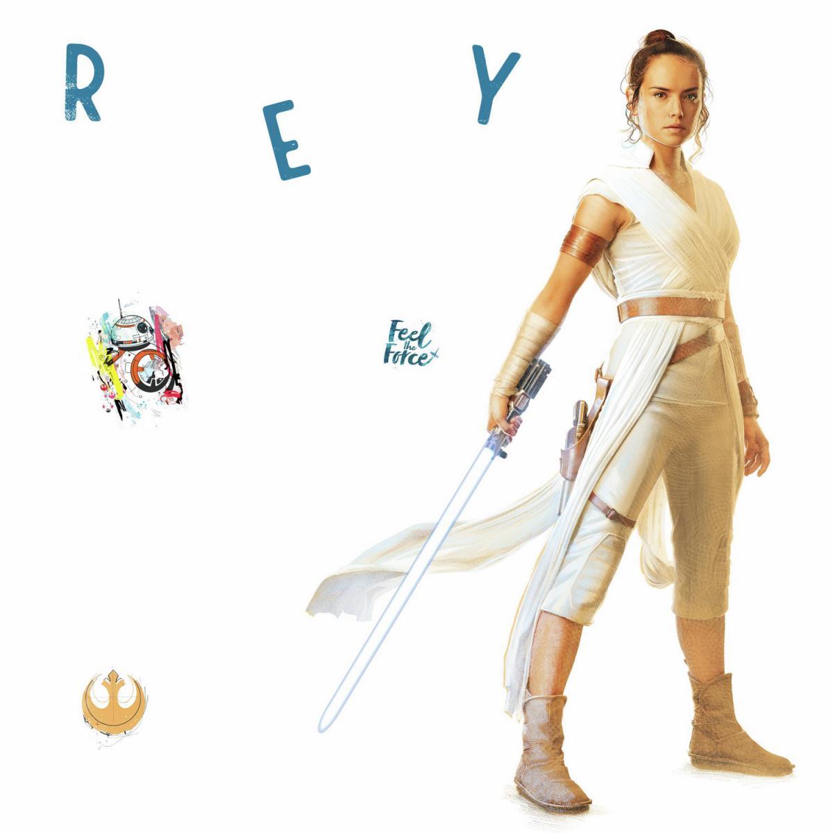 Roommates Stickers Géant Star Wars - modèle Rey L'Ascension de Skywalker
