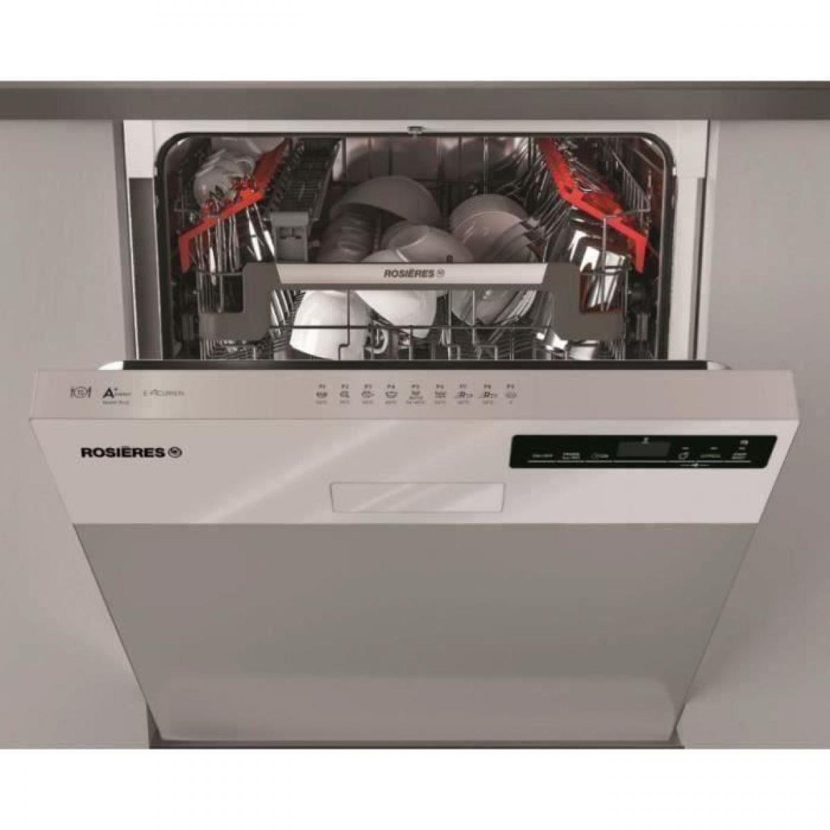 Rosieres Lave-vaisselle encastrable ROSIERES RDSN 1D530PX-47E - 15 couverts - Largeur 60 cm - 44 dB - Inox