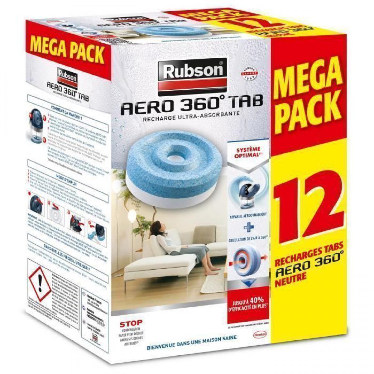 Rubson RUBSON PROMO MEGA PACK Lot de 12 recharge Aero 360 Neutre