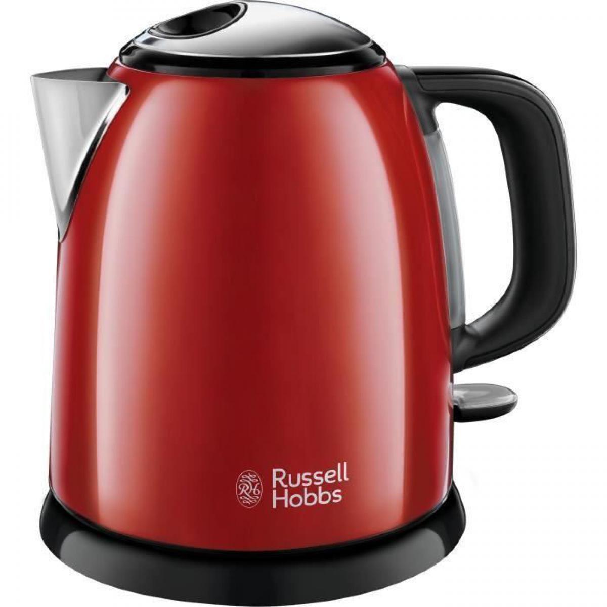 Russell Hobbs RUSSEL HOBBS 24992-70 Bouilloire Compacte Colours Plus Capacite 1 L Filtre Anti-Calcaire Amovible Lavable - Rouge