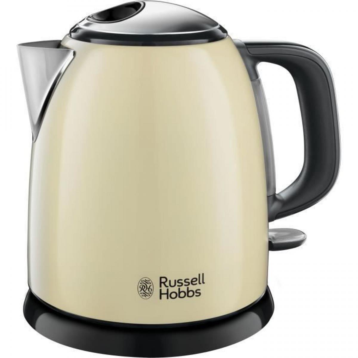 Russell Hobbs RUSSEL HOBBS 24994-70 Bouilloire Compacte Colours Plus Capacite 1 L Filtre Anti-Calcaire Amovible Lavable - Creme