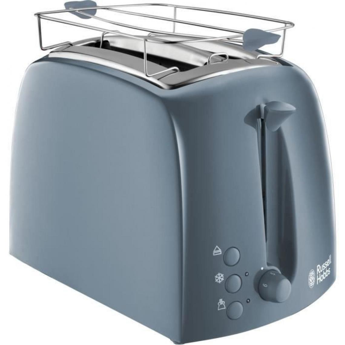 Russell Hobbs Russell Hobbs 21644-56 Toaster Grille-Pain Texture Fentes Larges - Gris