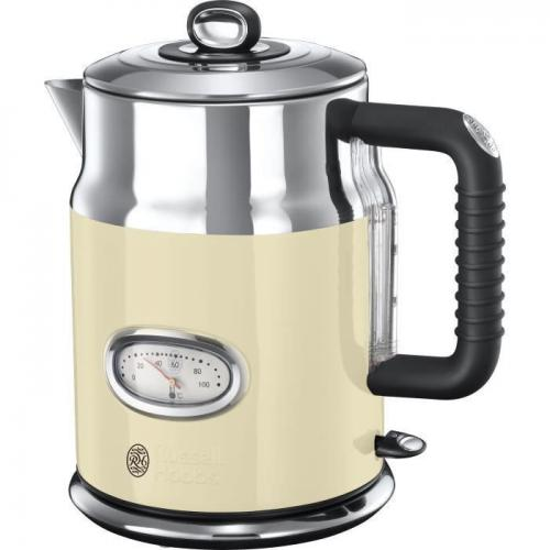 Russell Hobbs - RUSSELL HOBBS 21670-70 - Bouilloire Retro - 1,7 L - 2400 W - Creme - Bouilloire