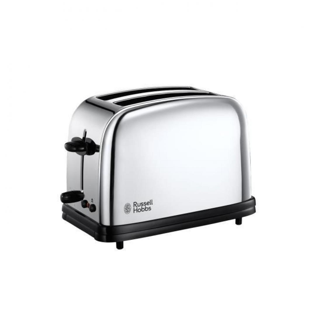 Russell Hobbs RUSSELL HOBBS 23310-57 - Toaster Victory Retro 2 fentes - Pinces a sandwichs - 1200 W - Acier brillant