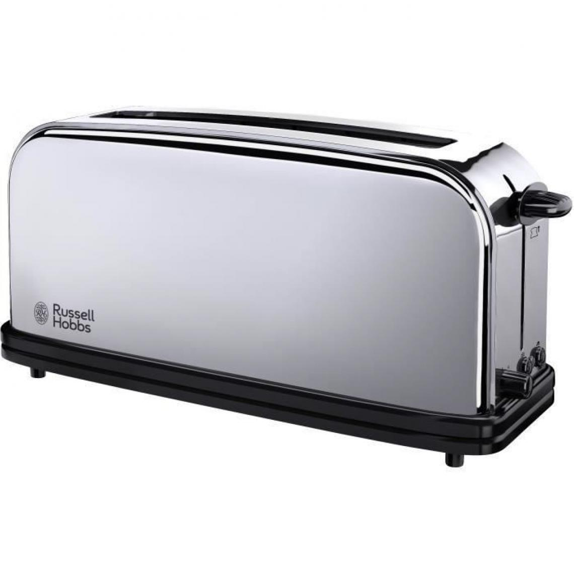 Russell Hobbs Russell Hobbs 23510-56 Toaster Grille Pain Victory 1000W, 1 Longue Fente, Design Retro, Chauffe Viennoiserie