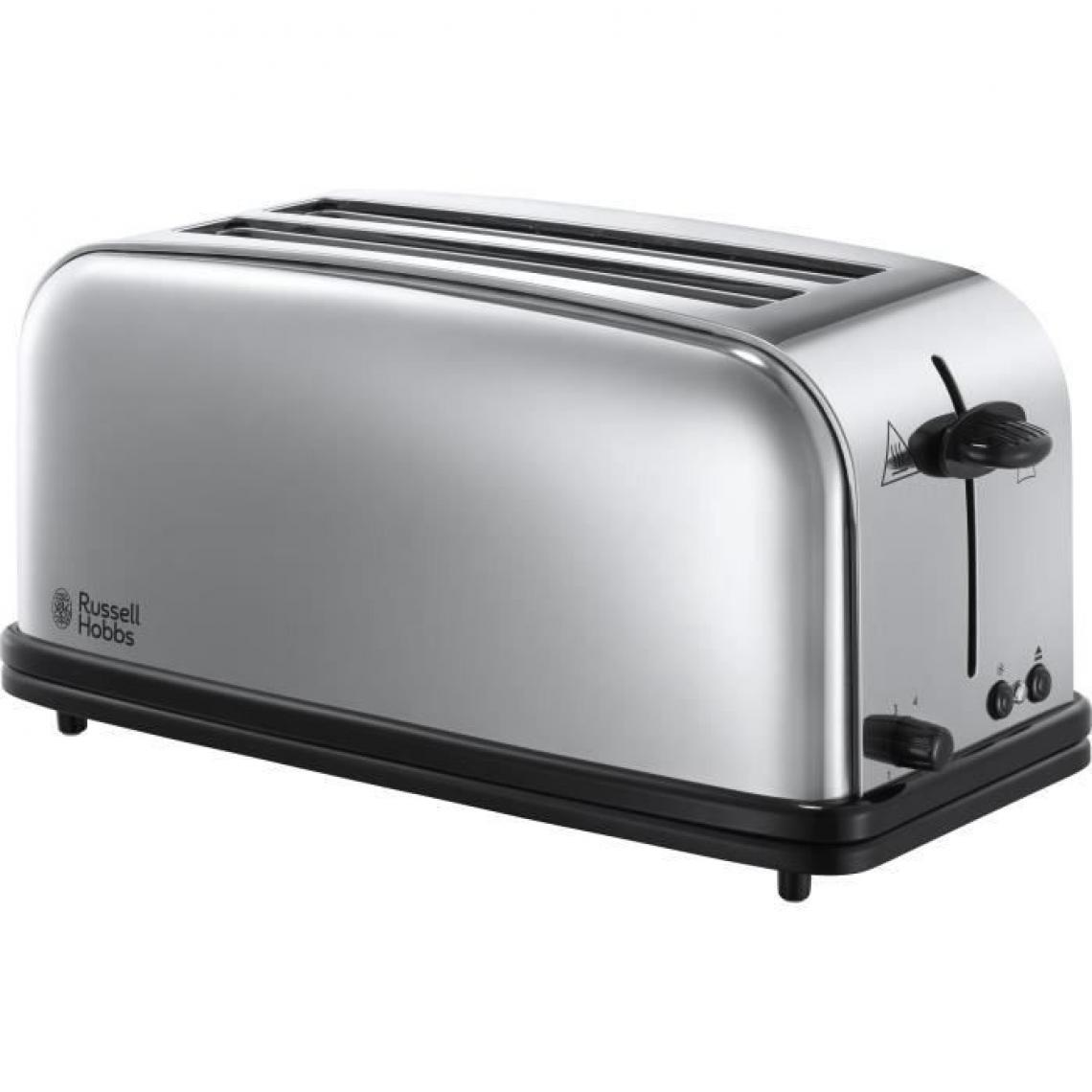 Russell Hobbs RUSSELL HOBBS 23520-56 - Grille-pain Victory - 2 longues fentes - Rechauffe viennoiserie - 1600 W - Design retro - Acier