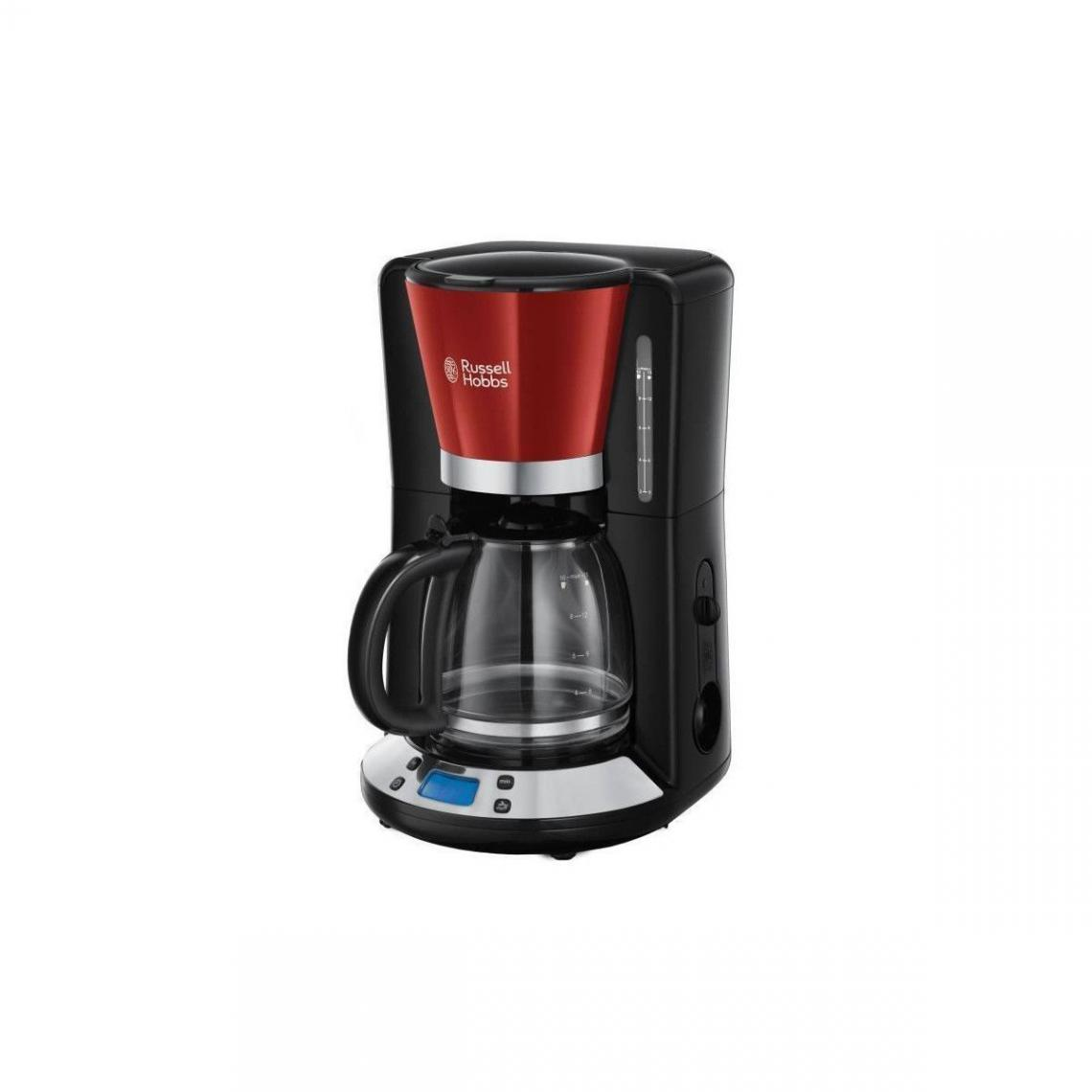 Russell Hobbs Russell Hobbs 24031-56 Cafetiere Filtre Programmable Colours Plus 24h, Digital, Maintien Au Chaud - Rouge