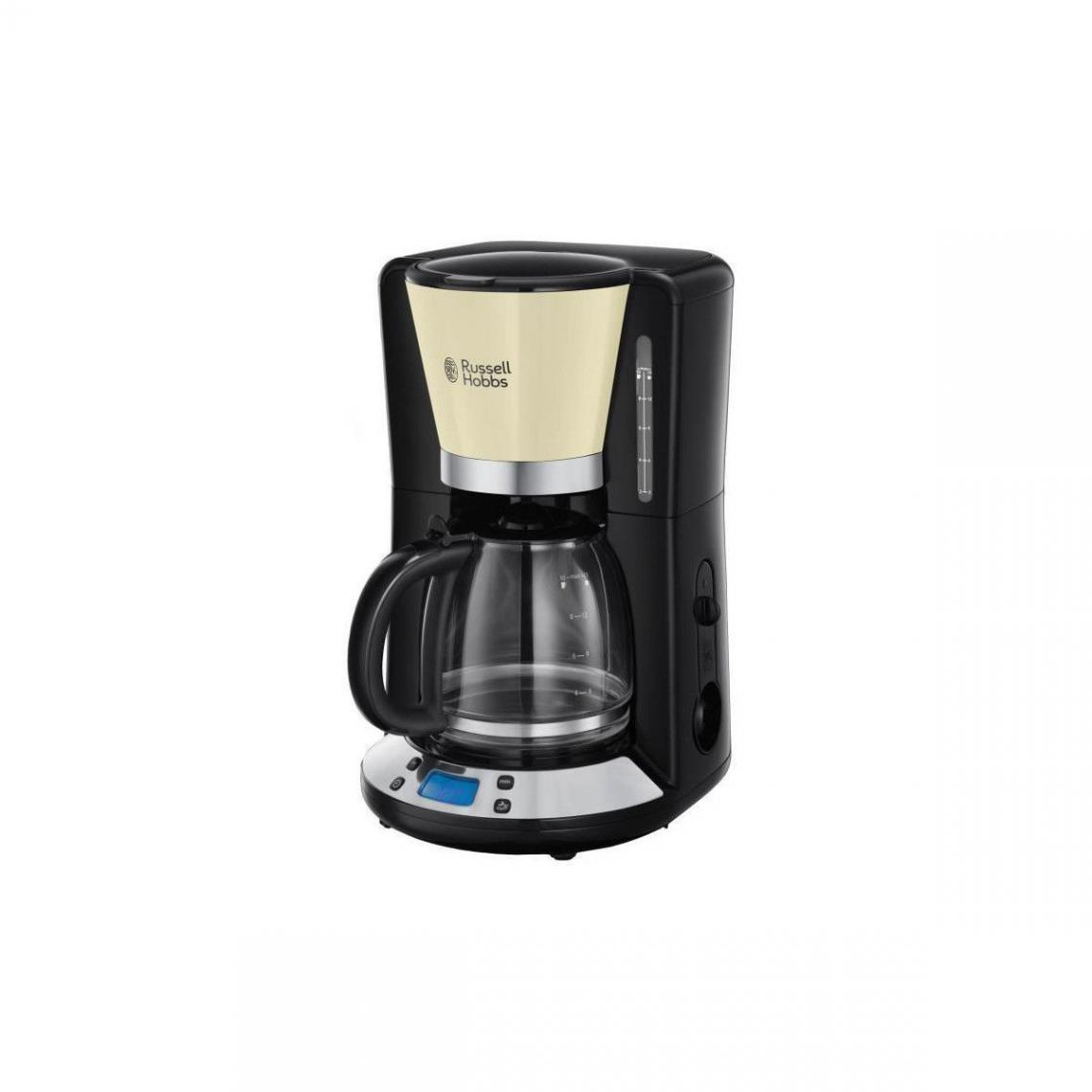Russell Hobbs RUSSELL HOBBS 24033-56 - Cafetiere programmable Colours Plus - Technologie WhirlTech - 15 tasses - 1100 W - Creme