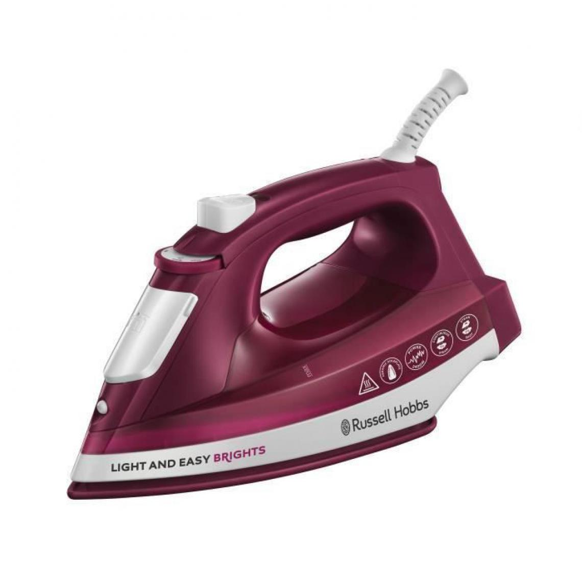 Russell Hobbs Russell Hobbs Fer à repasser Light and Easy Brights Mulberry 2400 W