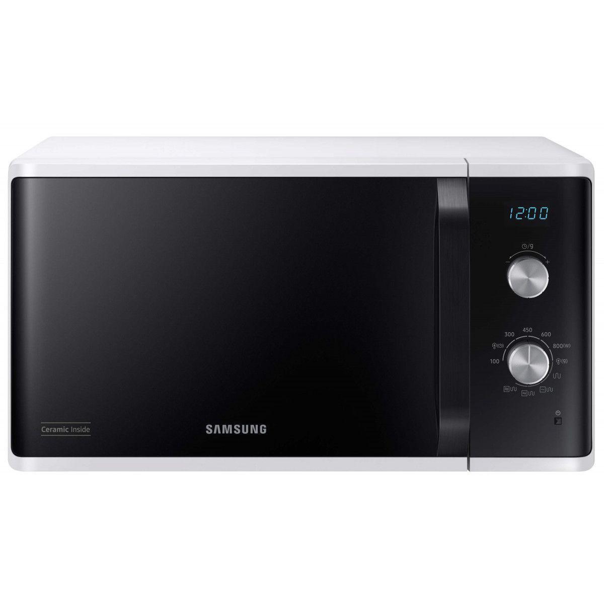 Samsung Micro-ondes Pose Libre 27l Samsung 1250w 33cm, Mg 23 K 3614 Aw