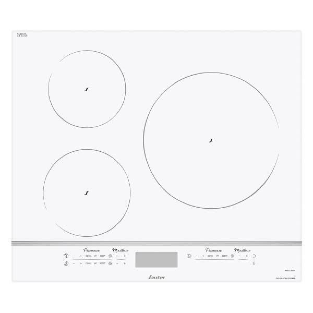 Sauter Plaque induction SAUTER 4000W 28cm, SPI9544W