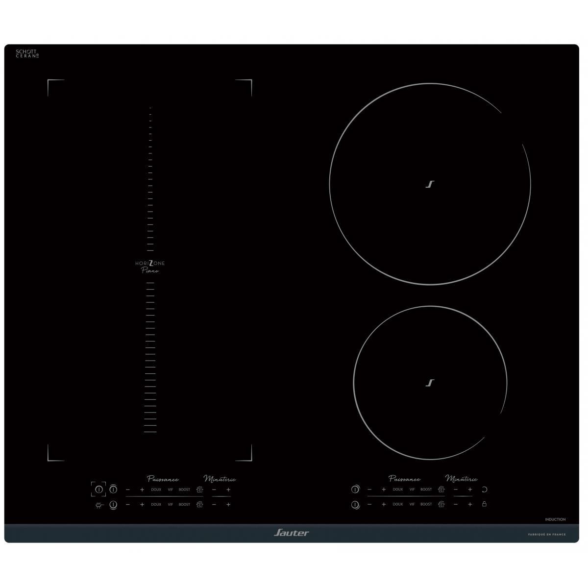 Sauter Plaque induction SAUTER 7400W 60cm, SPI9647B