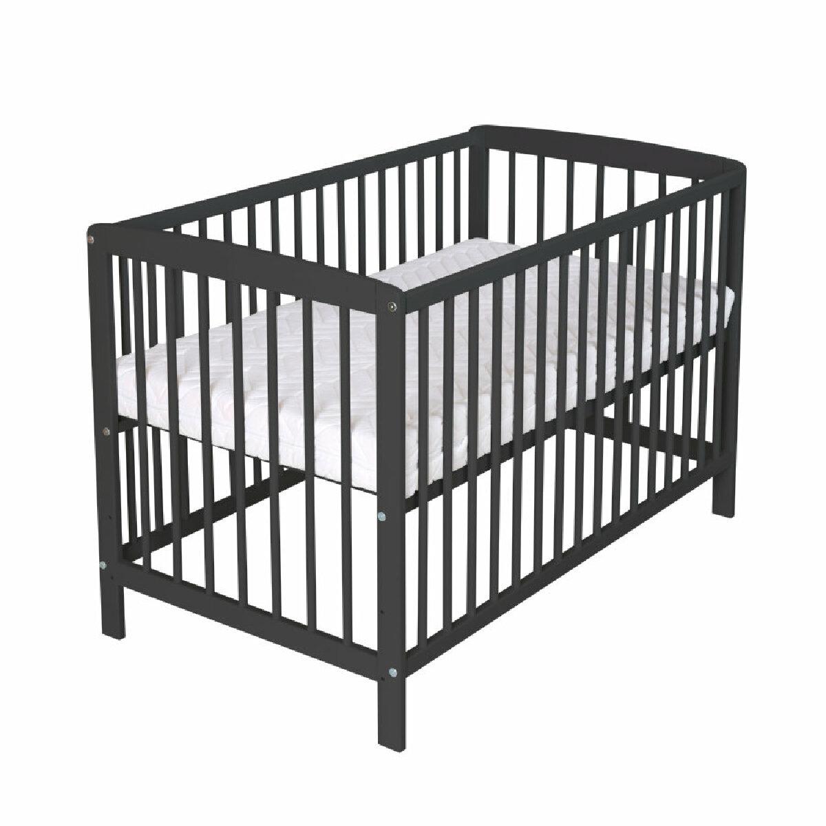 Schardt Lit enfant à barreaux Felix bois noir 60x120 cm