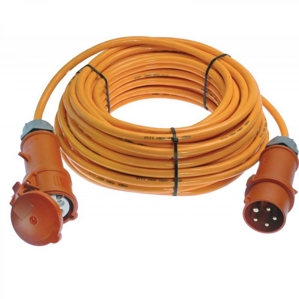 Schwabe CEE-Rallonge électrique 16A,25m H07BQ-F5G2,5 orange 400V
