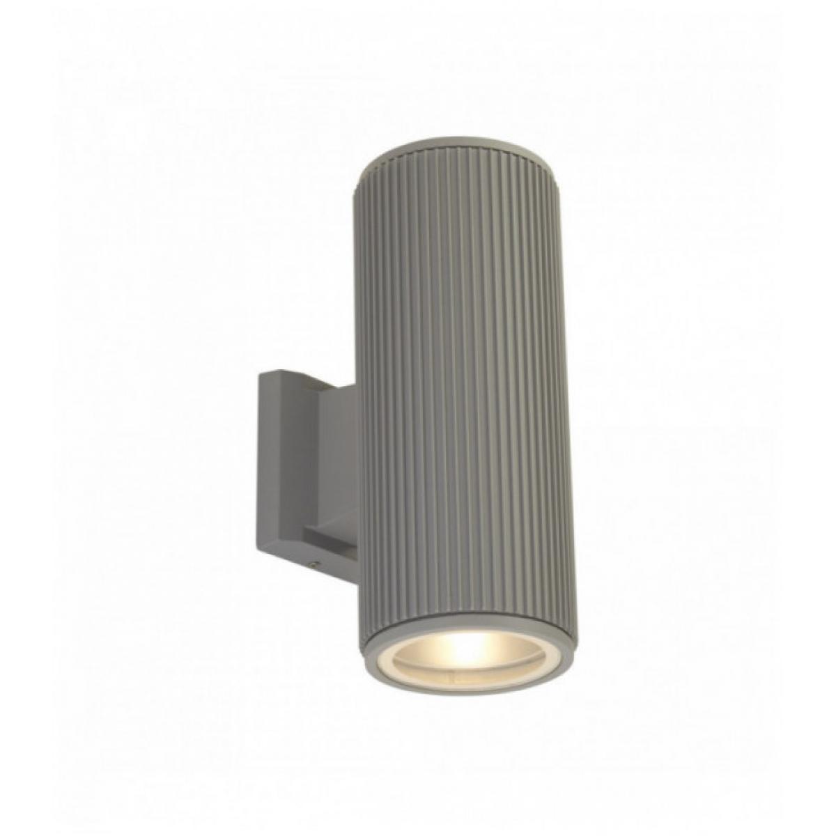 Searchlight Applique extérieur haut / bas / porche transparent - gris avec verre transparent