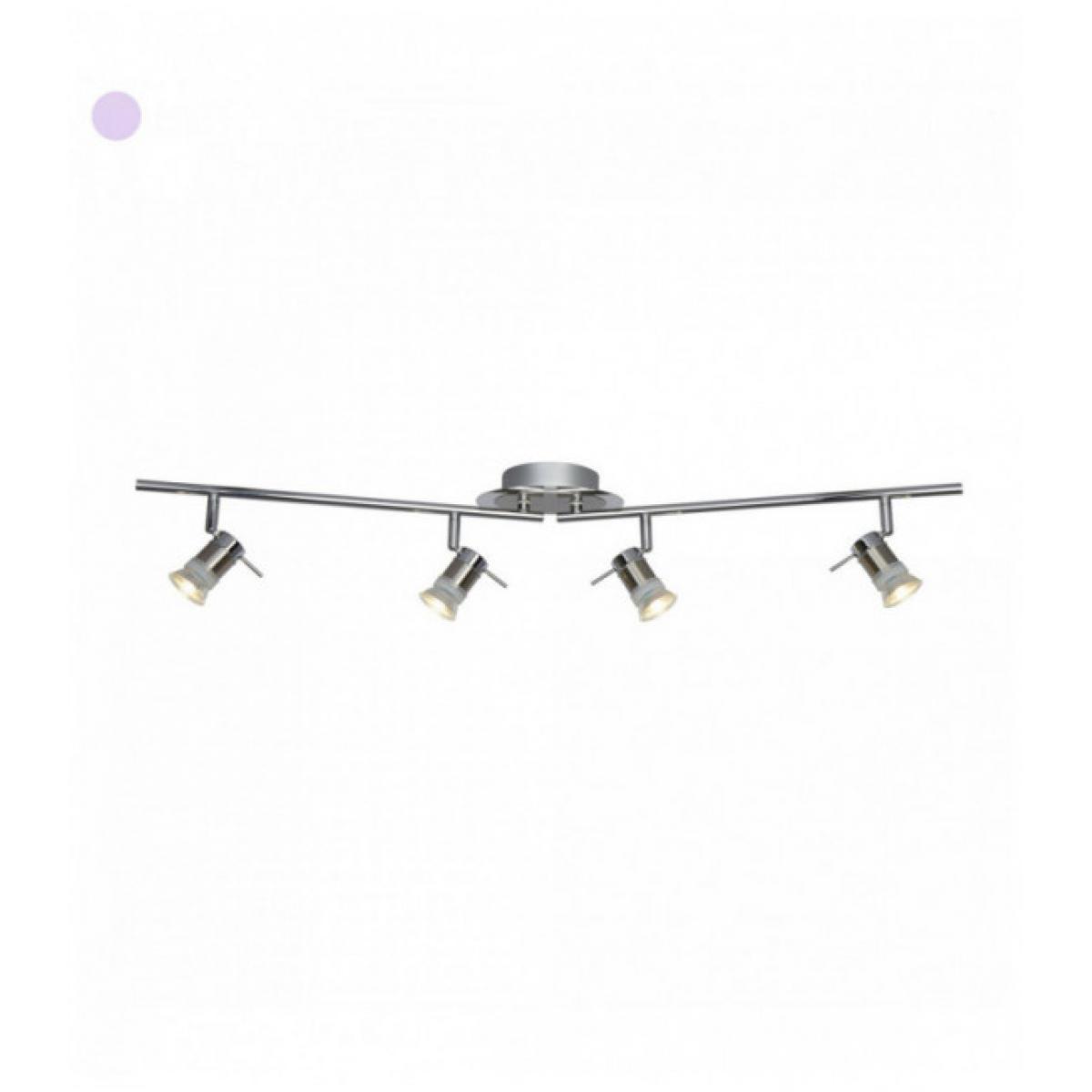 Searchlight Spot projecteur aries gu10 led ip44 4 ampoules