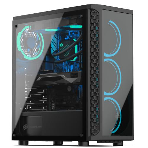 Sedatech - Sedatech PC Gaming Advanced Watercooling, Intel i9-9900KF, GTX 1650, 16 Go RAM, 500Go SSD NVMe, 2To HDD, sans OS - Ordinateur de Bureau Gaming