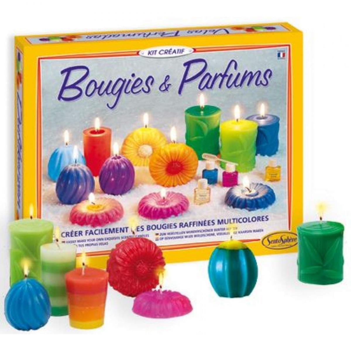 SentoSphere Kit Creatif Bougies et Parfums Nature