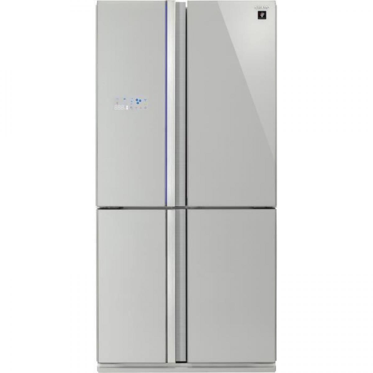 Sharp SHARP - SJ-FS810VSL - Refrigerateur Multi-portes - 600L 393L+207L - Froid ventile No Frost - A+ - L89,2cm x H183cm - Sil