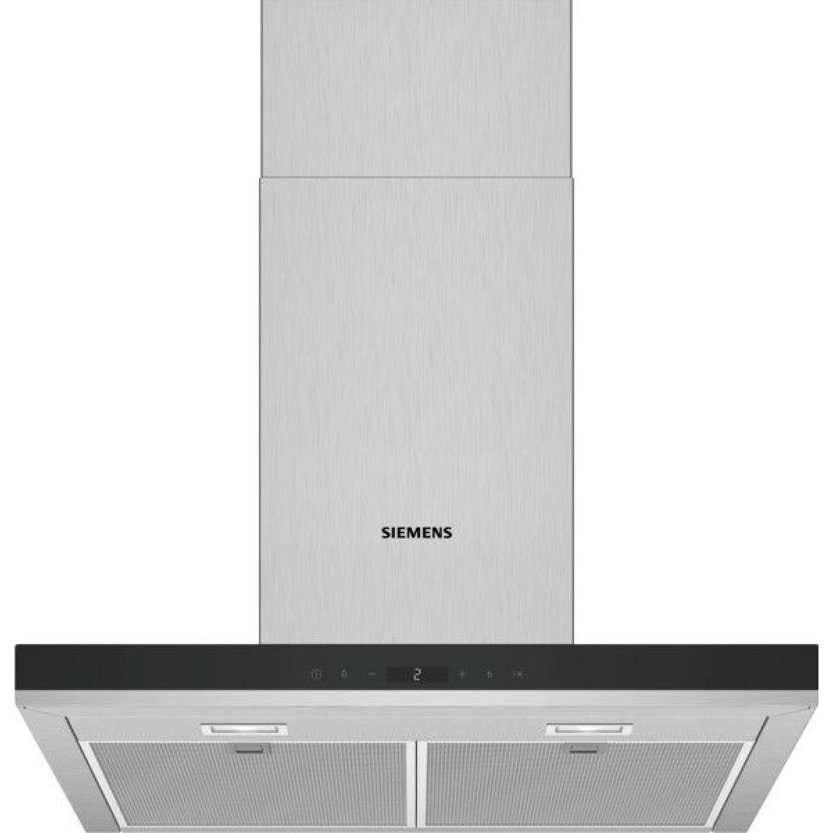 Siemens Hotte décorative 500m³/h SIEMENS 143W 60cm, LC 67 BHP 50