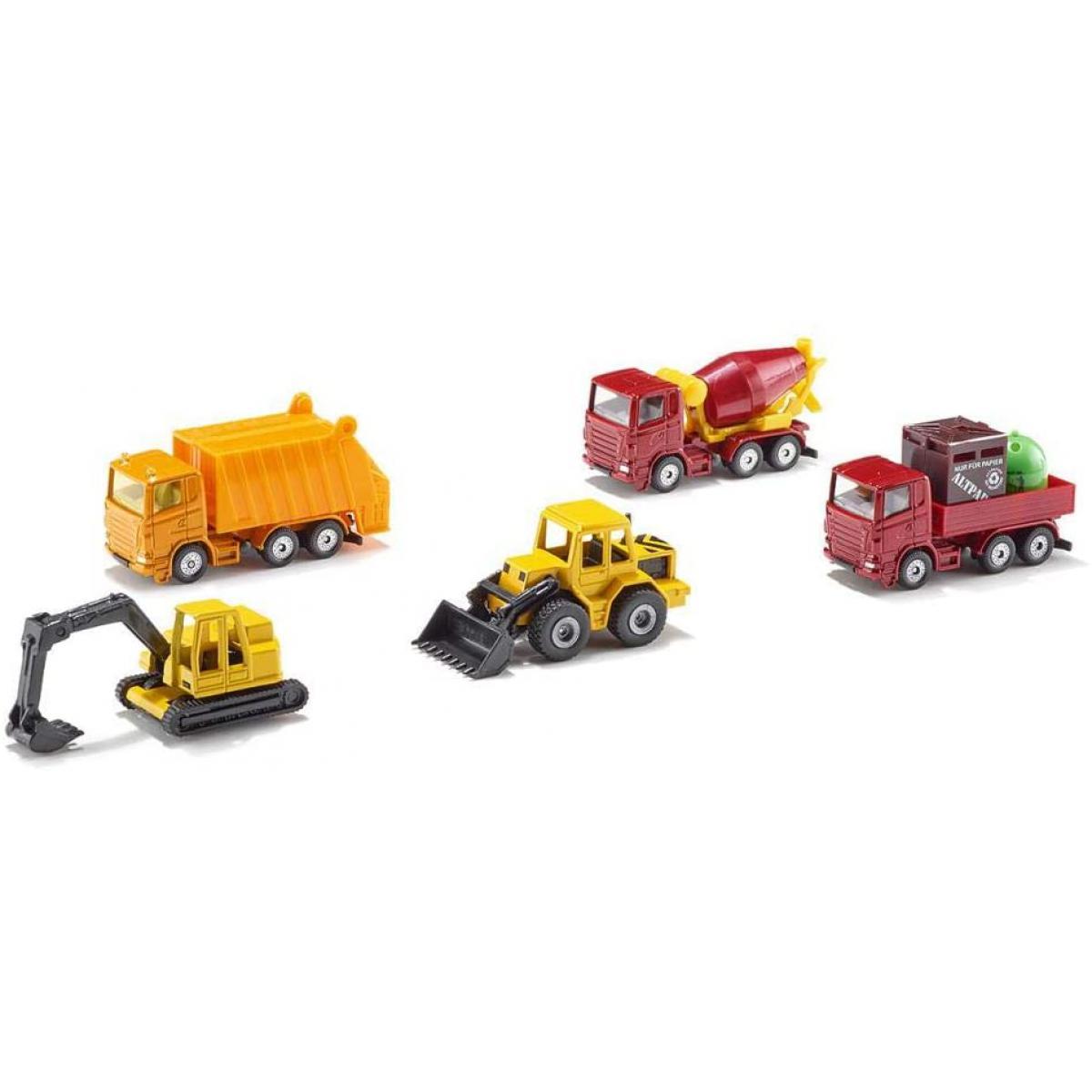 SIKU 6283 coffret cadeau véhicules de chantier 5 pièces