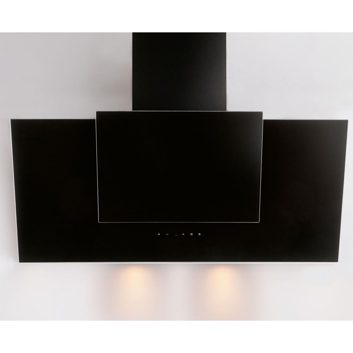 Silver Hotte décorative 621m³/h SILVER 90cm A, H 21090 009