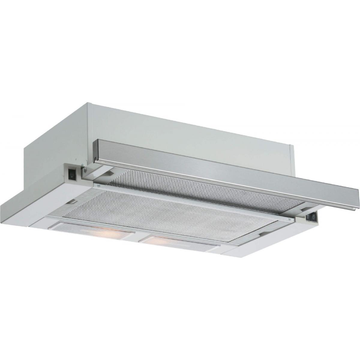 Silver Hotte tiroir 244m³/h SILVER 60cm, H 50060 015