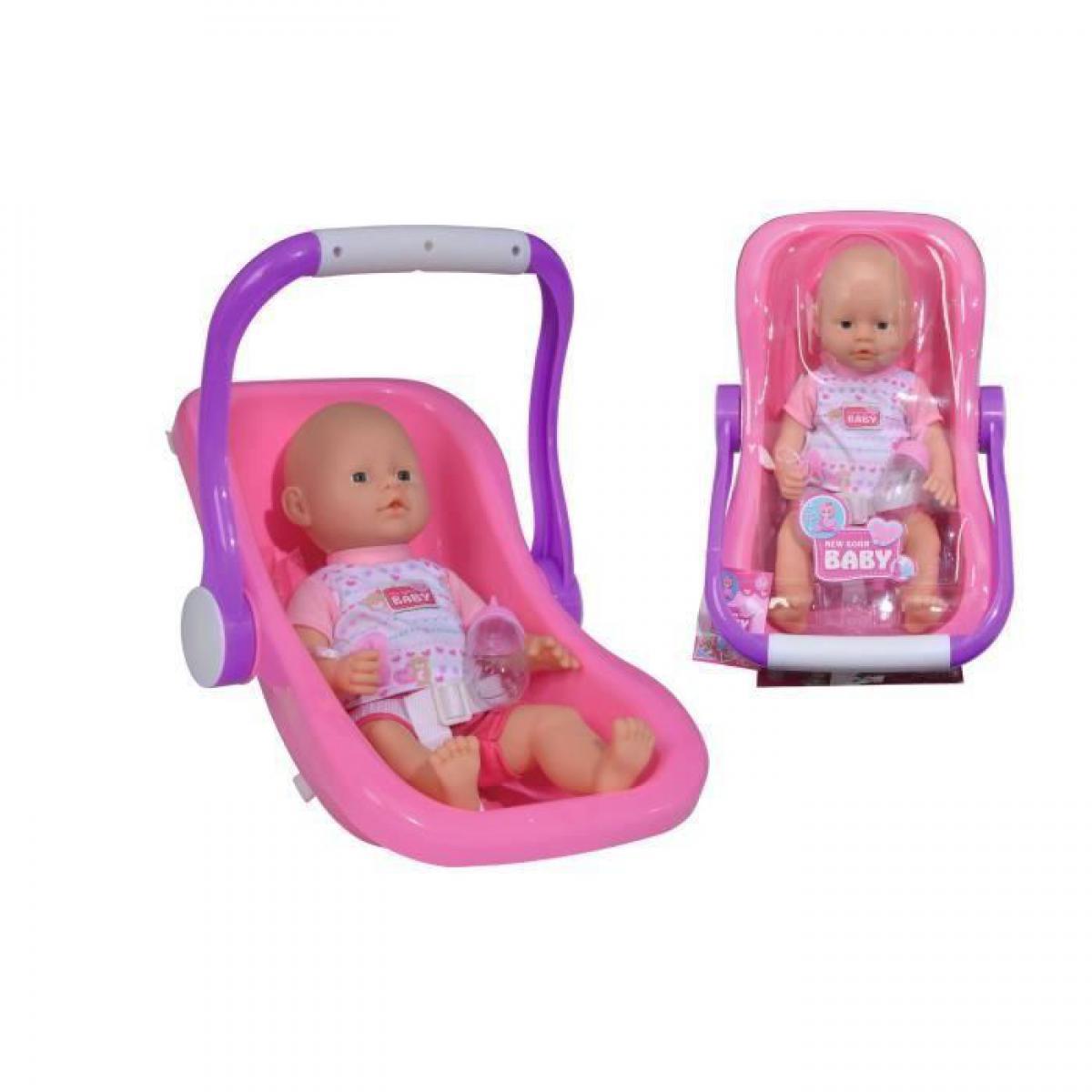 Simba Toys SIMBA New Born Baby Poupon Fonction Pipi + Siege Auto