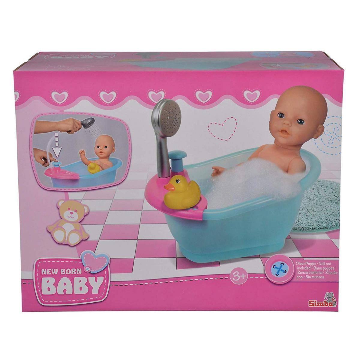 Simba Toys Simba Toys 105560123 - New Born Baignoire Bébé Poupée Baignoire