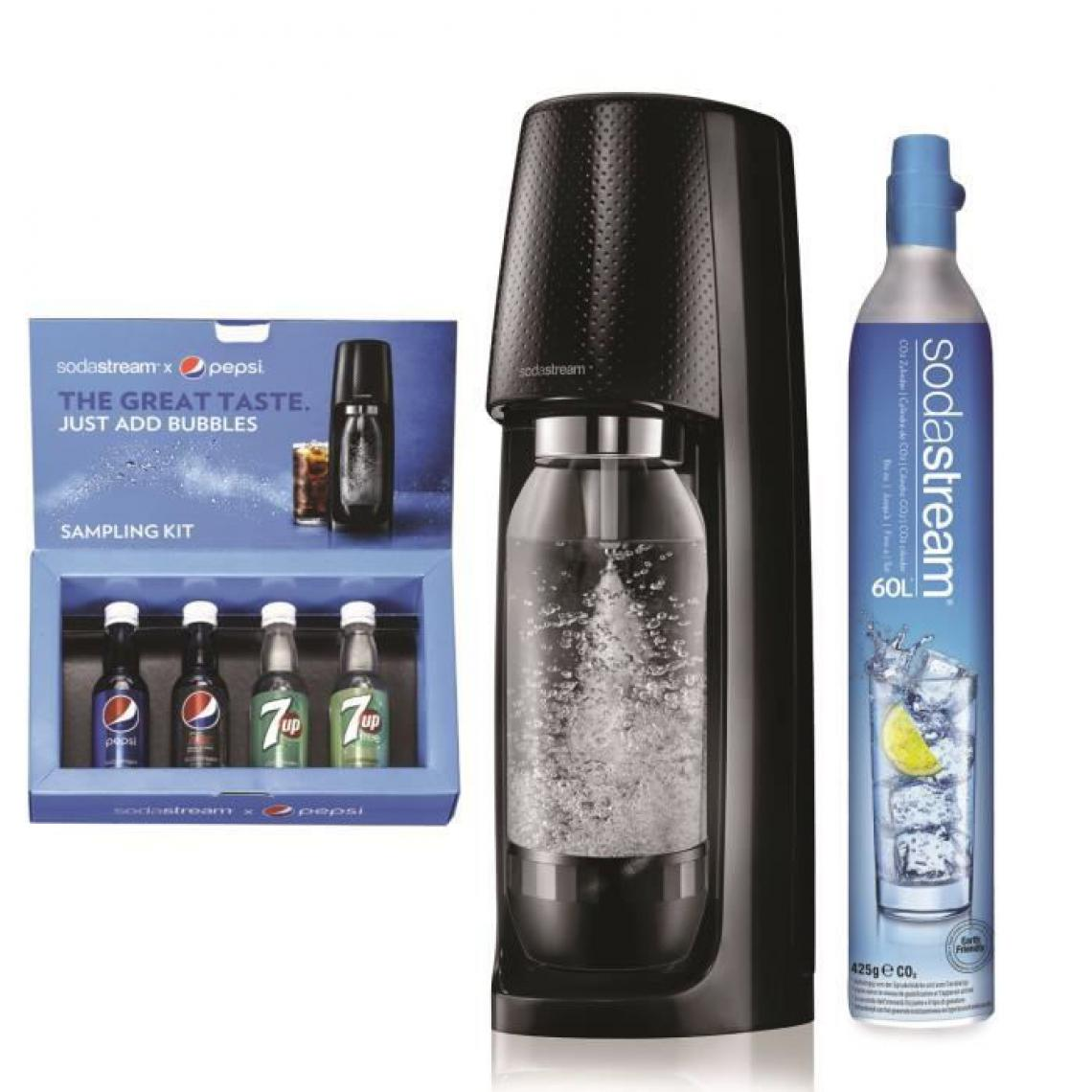 Sodastream SODASTREAM Machine a gazifier Spirit Noire + Coffret Découverte Pepsi