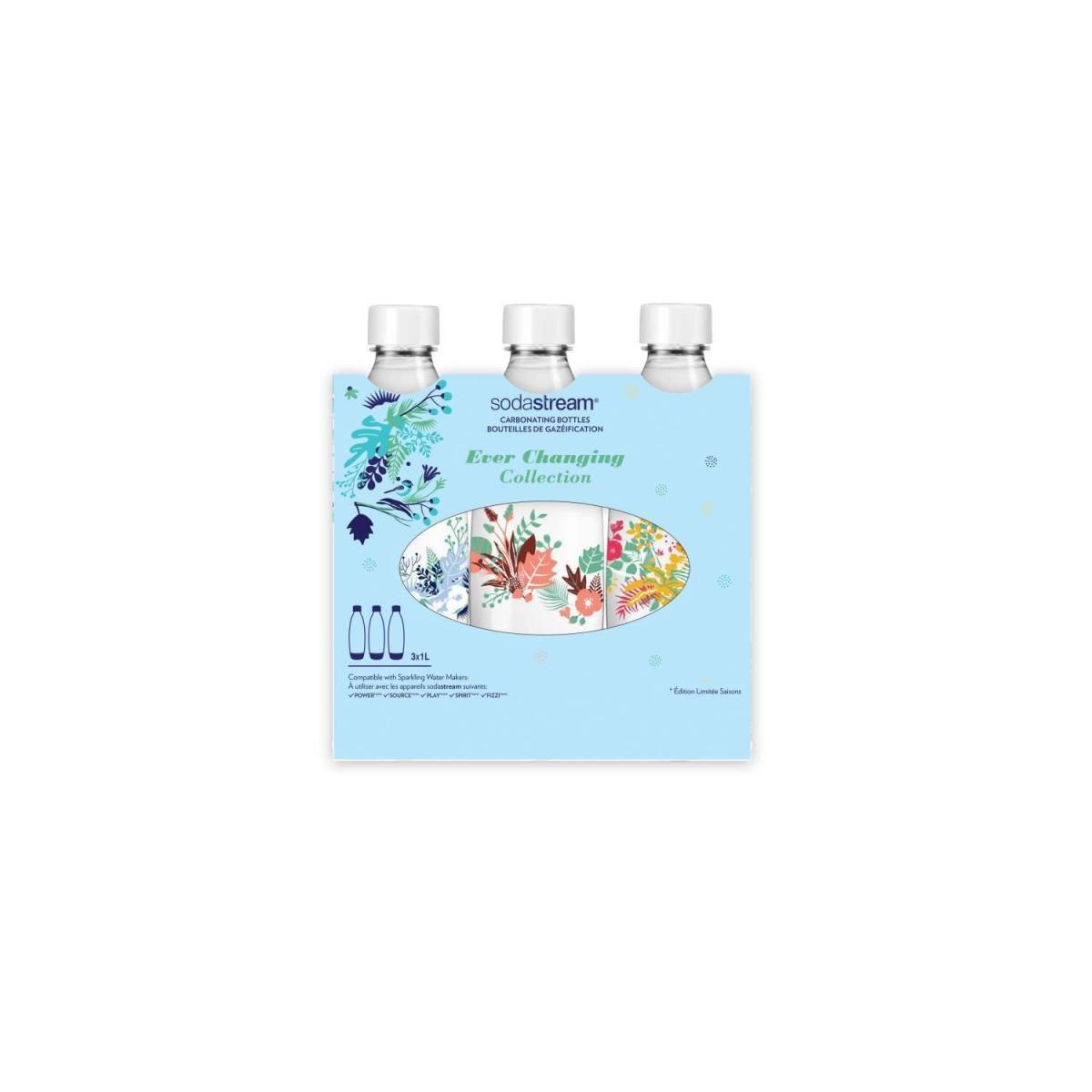 Sodastream SODASTREAM Pack de 3 bouteilles de gazéification grand modele Winter flower