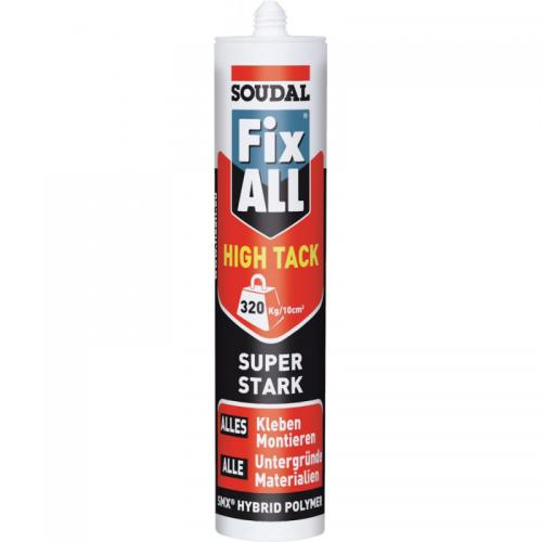 Soudal - Fix ALL HIGH TACK 290ml haute adhérence (Par 12) - Scellements chimiques