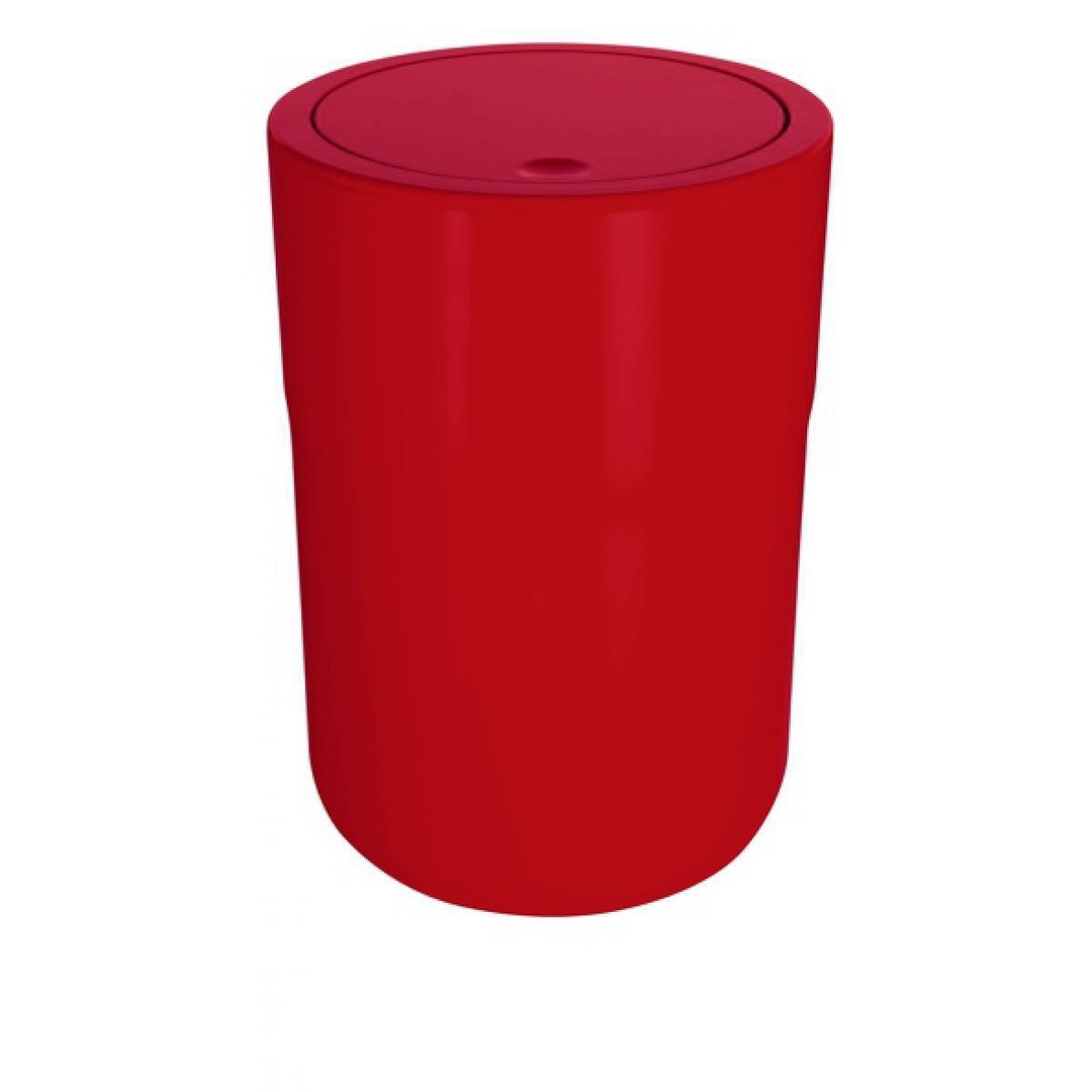 Spirella Spirella Poubelle à bascule PP COCCO 5L Rouge