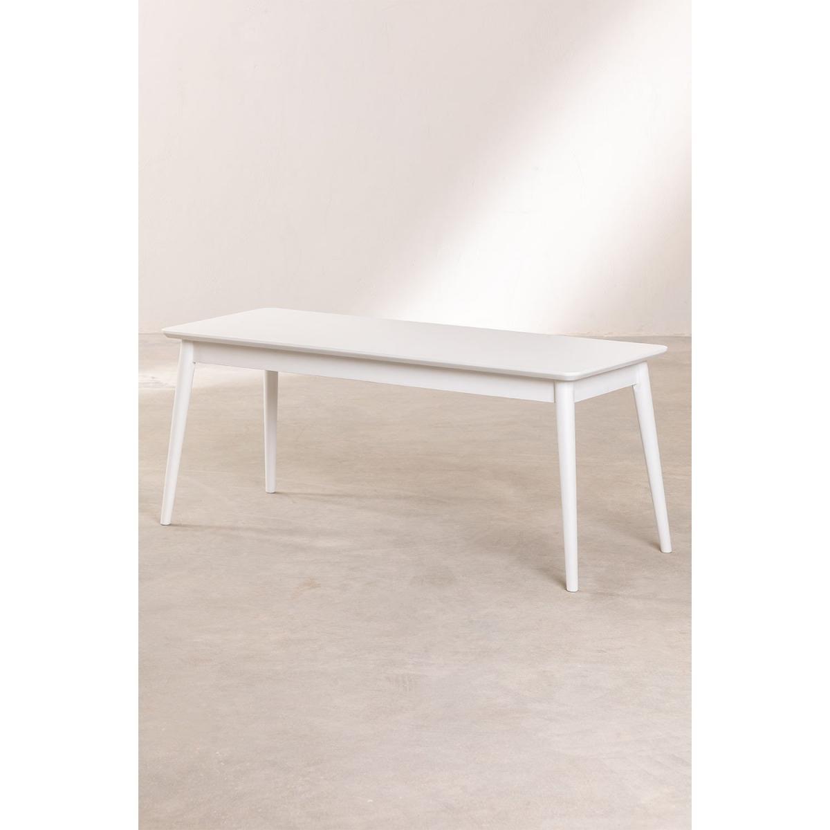Stylez Banc en bois d'hévéa 110cm blanc