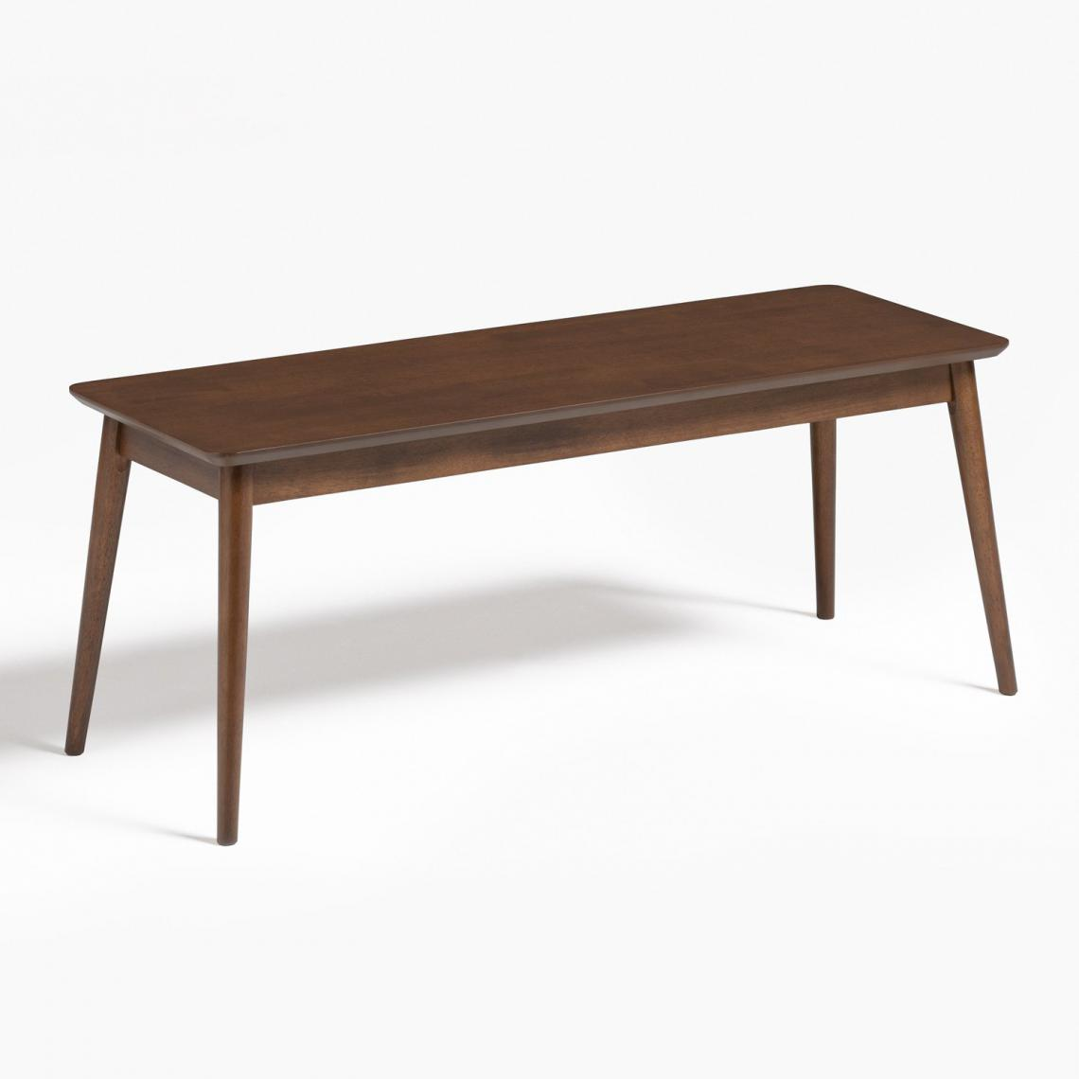 Stylez Banc en bois d'hévéa 110cm foncé