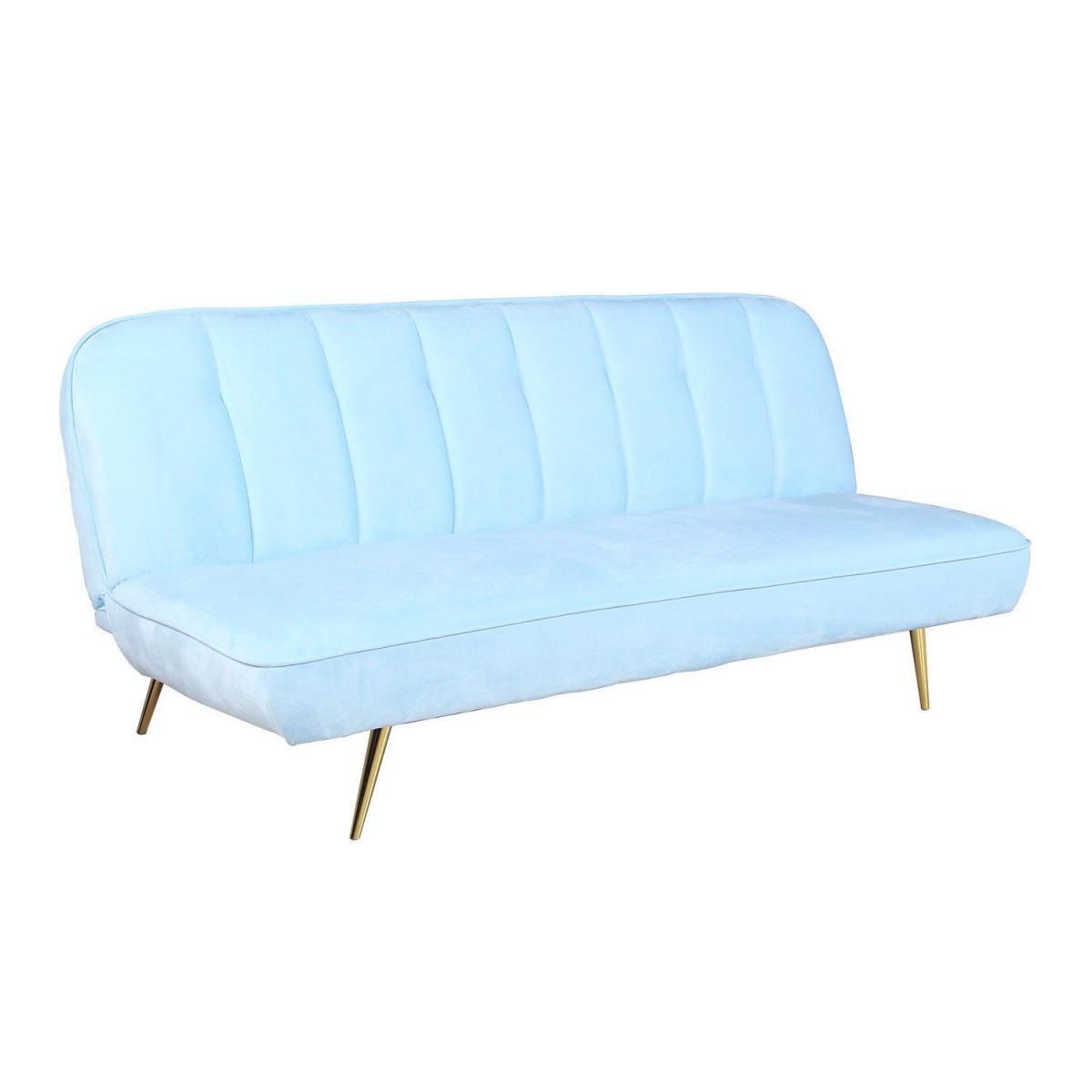 Stylez Canapé velours couleurs bleu ciel