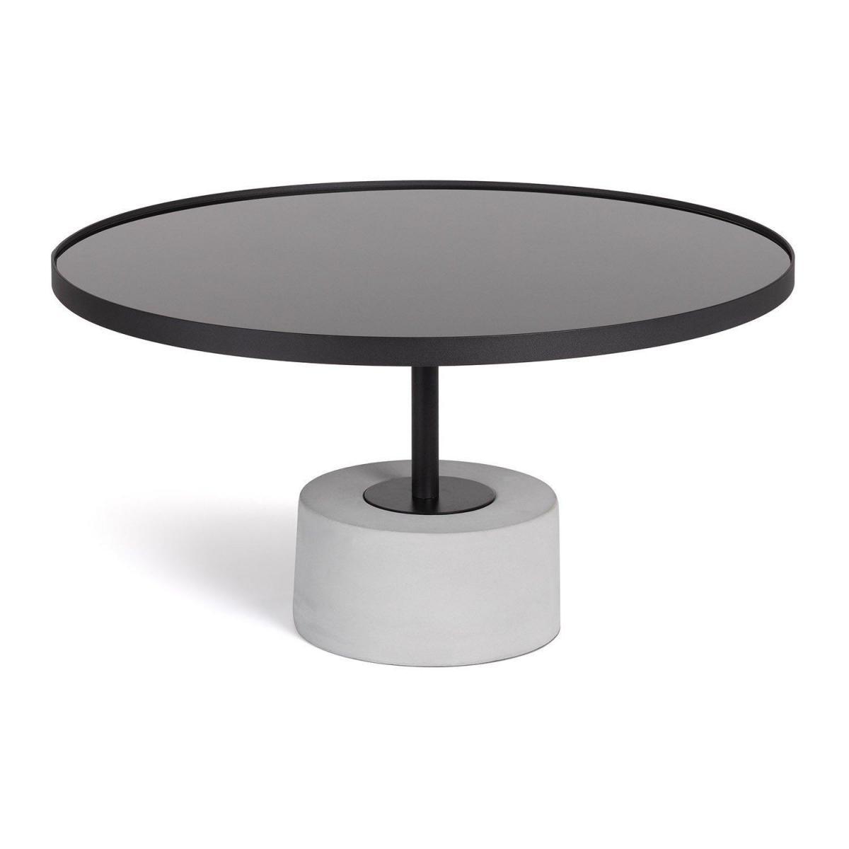 Stylez Table basse ciment et acier noire