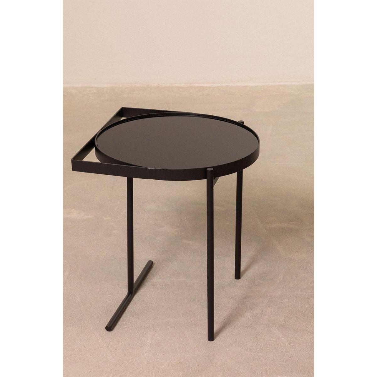 Stylez Table carré ronde noire
