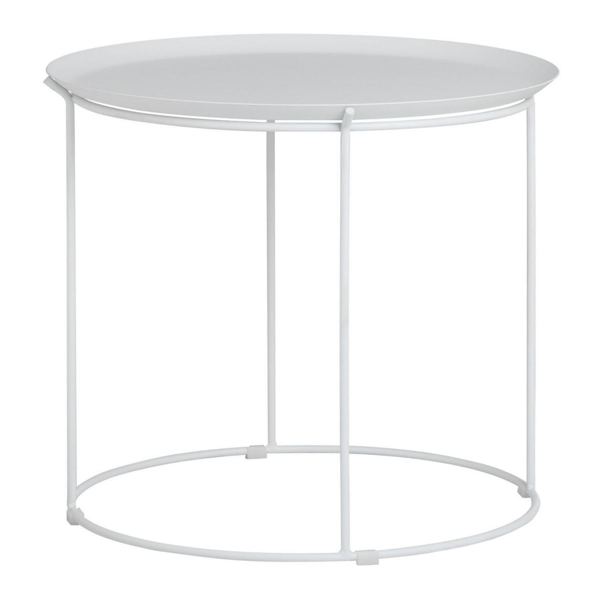 Stylez Table plateau amovible blanche