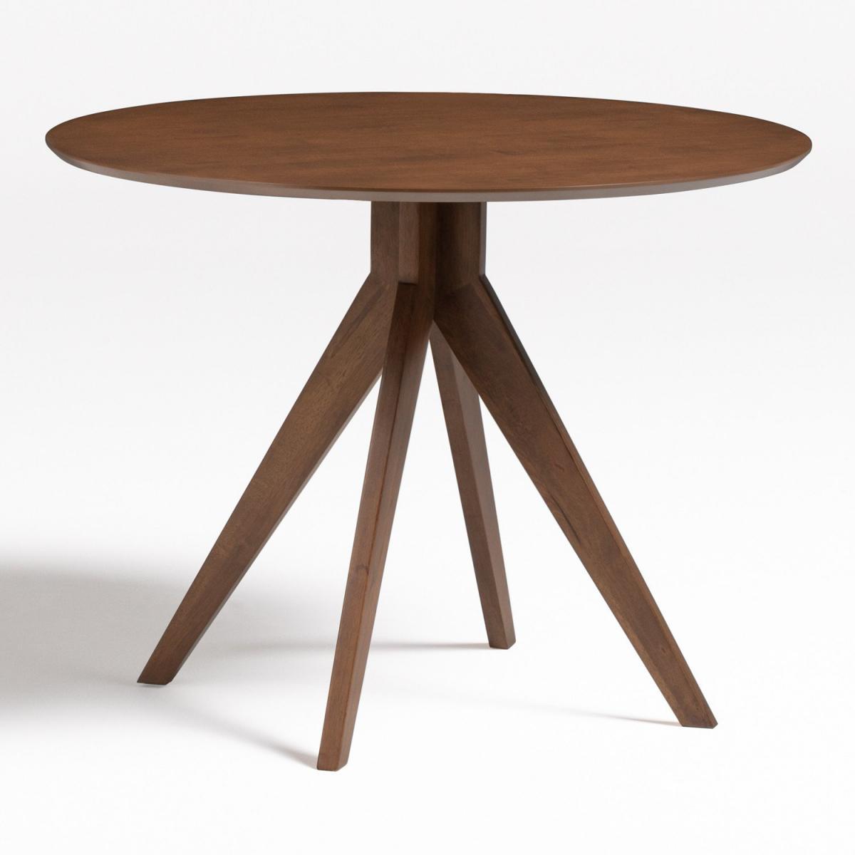 Stylez Table ronde trépied bois foncé 100cm