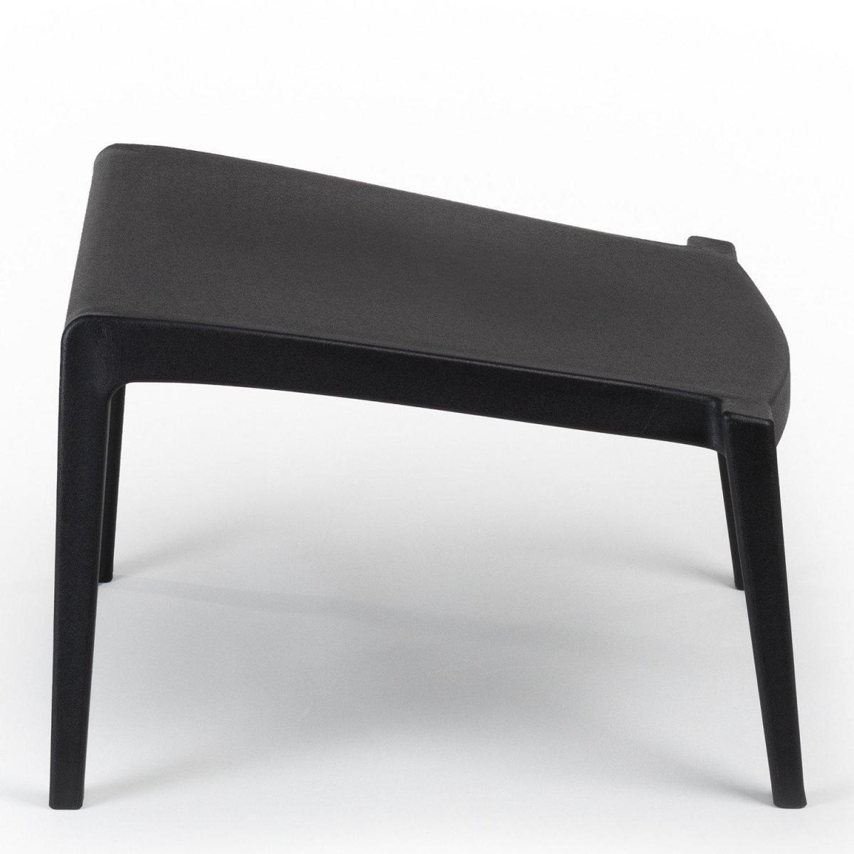 Stylez Tabouret de jardin design noir