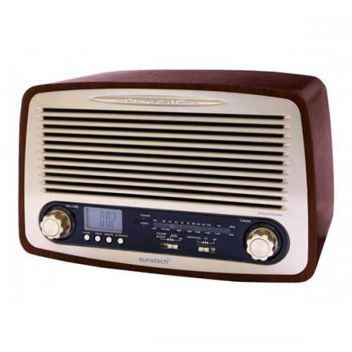 Sunstech - Radio multi - function wood and retro - Drone connecté